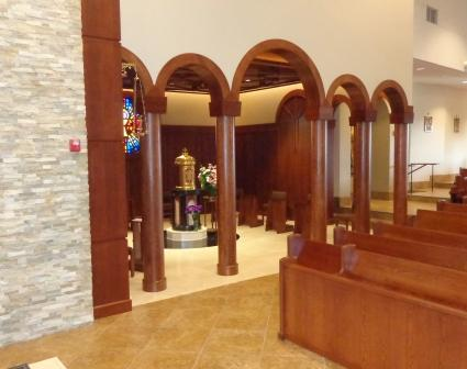 2.9. Blessed Sacrament Chapel taken from Sanctuary